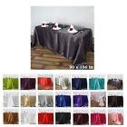 "90x156"" Rectangle Satin Tablecloth For Wedding Party Banquet Events Decoration"