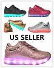 Link Girls Kids & Toddler Signal Glittering LED Tennis Shoes