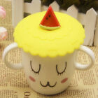 Anti-dust Silicone Coffee Mug Lid Suction Leakproof Fruit Glass Cup Cover