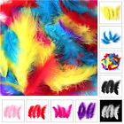 200 X Fluffy Marabou Feathers Card Making Crafts Embellishments Trimming 12-15cm