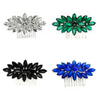 Royal Blue Emerald Green Black White Flower Hair Comb Wedding Accessories HA319