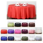 """108"""" Round Polyester Tablecloth For Wedding Party Banquet Events Decoration"""
