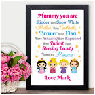 Disney Princess Personalised Keepsake Birthday Gifts for Auntie Aunty Aunt