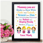 PRINCESS Personalised Christmas Birthday Gifts for Mummy Mum Nanny Granny Auntie