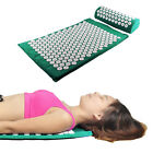 Acupressure Mat and Pillow Set Head Neck Pain Relief  Massage Tools Stress Relax