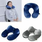 USA Soft Inflatable Travel Pillow Flight Car Neck Support Back Cushion Head Rest