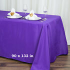 "90x132"" Polyester Rectangle Tablecloths"