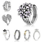 Fashion Jewelry 925 Silver Flower Women Men Wedding Engagement Ring Gift Sz 6-10