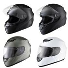 Full Face Helmet Motorcycle Motorbike Racing Road AS/NZS Approved Size Color Opt