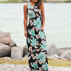 Women BOHO Sleeveless Long Evening Party Cocktail Prom Floral Beach Maxi Dress