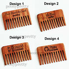 Personalized Wooden Rustic Hair Comb Beard Comb Bridesmaid Groomsmen gifts q