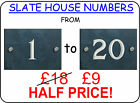 Slate House Sign Numbers 1 to 20