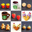 1 Pair Fashion Women Lovely Cute Food Fruit Resin Pin Stud Earrings Stylish Gift