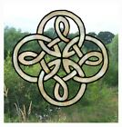 Round Celtic Stained Glass Effect Window Cling