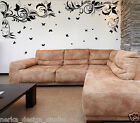 WALL STICKERS Corner Flower Swirl With Butterflies  WALL DECAL   2 Colours   D53