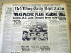 <5 1928 newspapers 1st TRANS PACIFIC AIRPLANE FLIGHT Aviation SOUTHERN CROSS