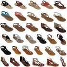 Brand New Women Sandals New Shoes Gladiator Thong Strap Flat