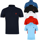 NEW MENS POLO SHIRT TOP SHORT SLEEVE PIQUE PLAIN T-SHIRT TEE HORSE PLUS SIZE 5XL