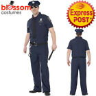 CA291 Curves Mens NYC Police Man Plus Costume Cops & Robbers Fancy Dress & Hat
