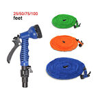 3 Colors Latex 25 Feet Expanding Flexible Garden Water Hose with Spray Nozzle