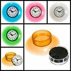 Waterproof Wall Clock Mirror Timer Shower Bathroom Water Resistant Suction Cup