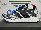 NEW AUTHENTIC ADIDAS NMD_R2 Primeknit Shoes - White/Black; BB2951