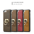 Caseme Fashion PU Leather Metal Ring Holder Back Cover Case for iPhone 7 Plus 6S