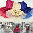 NEW Clothing For Dogs Pet Puppy Dog Clothes Lace Bow Wedding Tutu Dress XS-XL