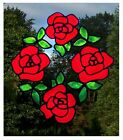 Rose Group Stained Glass Effect Window Cling