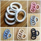 "Set of 10 Silicone 2.5"" Teething Rings - 65 mm - BPA Free Food Grade Silicone"