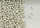 Sterling Silver 3.3mm Bicone Spacer Beads, Choice of Lot Size
