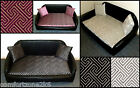 ZIPPY FAUX LEATHER DOG BEDS - 3 SIZES LUXURY WASHABLE CHENILLE - REFLEX MATTRESS