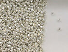 Sterling Silver 2mm Faceted Round Spacer Beads, Choice of Lot Size & Price