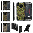 For HTC Desire 530 | Desire 630 | Desire 550 Dual Layer Stand Case Abstract Camo