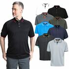 Trespass Bonington Mens Polo Shirt Plain T-Shirt in Black Grey Blue & White