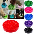 Non Slip Pet Dog Puppy Slow Down Eating Feeding Bowl Anti Choke Dish Food Feeder
