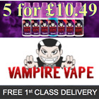 Kyпить Vampire Vape E-Liquid *5x10ml bottles for £10.49* Choose Flavour & Strength на еВаy.соm