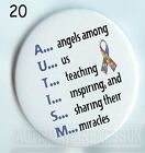 Autism Button Badges, Autism angels among us,