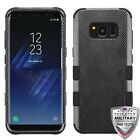 Samsung GALAXY S8 /PLUS Impact TUFF HYBRID Armor Rubber Rugged Case Phone Cover фото