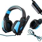 Wired G4000 USB Stereo Gaming HeadphoneS Headset Headband w/Mic LED Light for CP