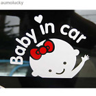 Reflective Decals Baby in car Female baby in the car Warning Tail stickers