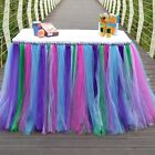Pop Tutu Table Skirt Colorful Tulle Mesh Wedding Birthday Banquet Occasion Decor