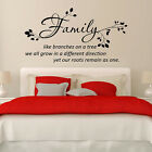 FAMILY LIKE BRANCHES ON A TREE WALL QUOTES Wall Quote Sticker  WALL STICKERS V18