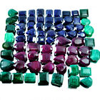 9160 Cts[2 Kilo]Natural Mixed Facet Ruby Emerald Sapphire Gemstone Wholesale Lot