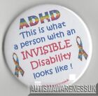 ADHD Badges, This is what a person with an invisible disablity looks like, ADHD