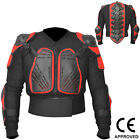 Motocross Motorbike Body Armour Motorcycle Protection Guard Jacket Black / Red