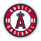 Los Angeles Angels of Anaheim round Decal / Sticker Die cut