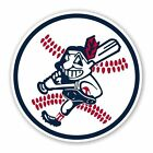 Cleveland Indians Mascot Ball Decal / Sticker Die cut on Ebay