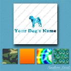 Custom Chinese Shar Pei Dog Name Decal Sticker - 25 Printed Fills - 6 Fonts