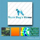 Custom Airedale Terrier Dog Name Decal Sticker - 25 Printed Fills - 6 Fonts